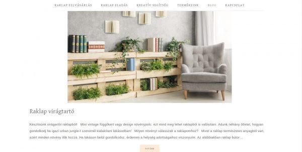raklap virágtartó weboldal