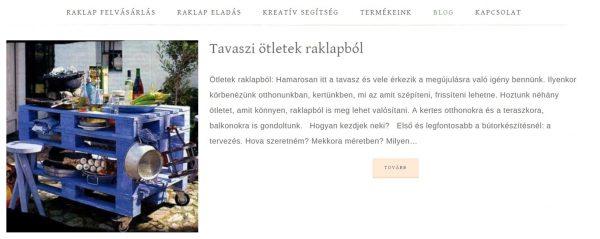 raklap pult weboldal