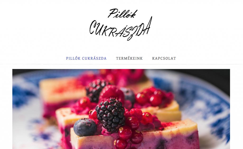 Cukrászda weboldal
