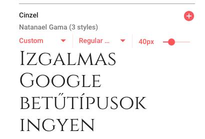 google betűtípus
