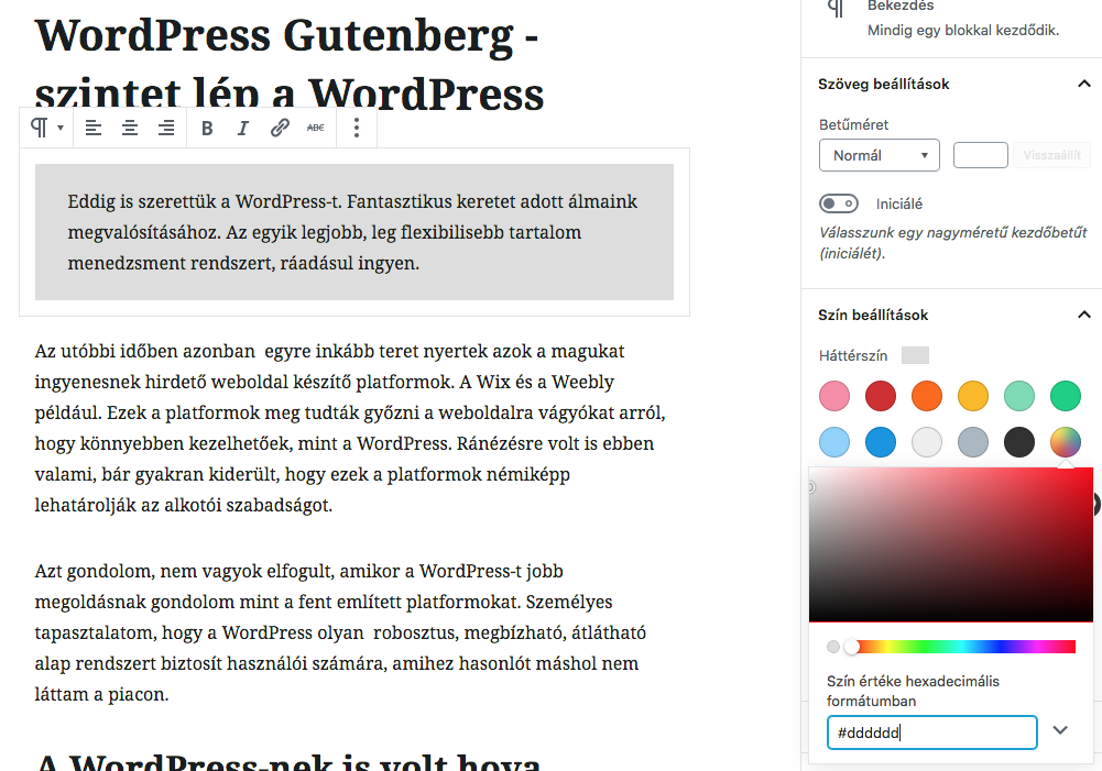 WordPress Gutenberg – szintet lép a WordPress