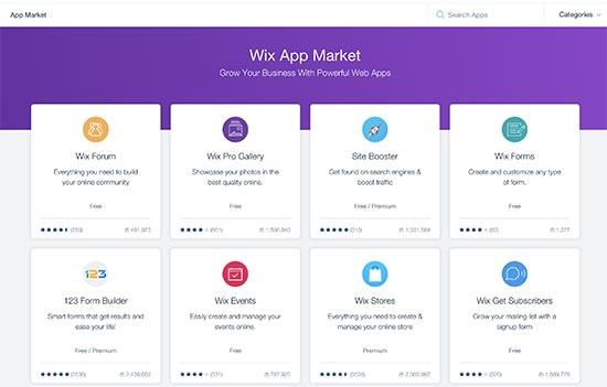 wix applikáció