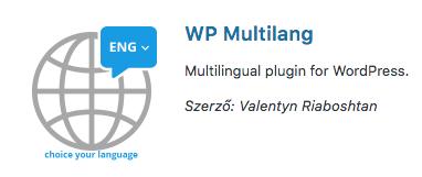 WP Multilang többnyelvű plugin