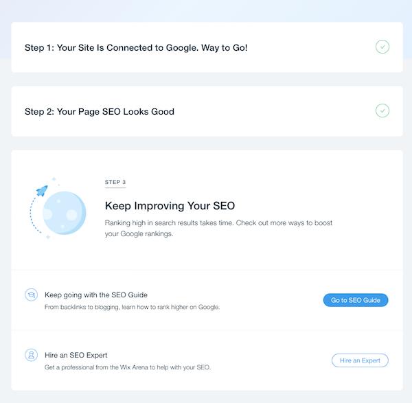 wix keresőoptimalizálás lépései