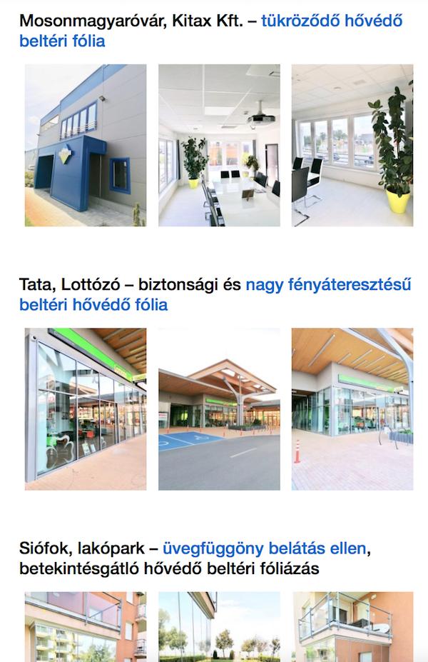 vállalkozói weboldal referenciák